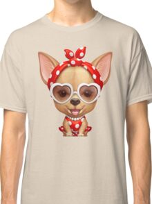Chihuahua in the Guise of a Retro Beauty Classic T-Shirt