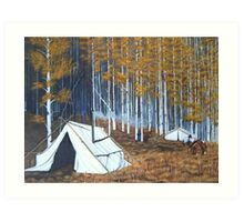 Elk hunt base Camp Art Print