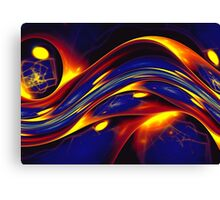 yellow blue abstract wave  Canvas Print
