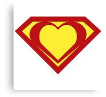 Heart of a Hero - Super Canvas Print