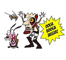 courage the cowardly dog - ooga booga jaeger! Photographic Print