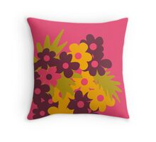 Flowers for Lola [daisies] Throw Pillow