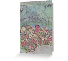 family gathering on Earth Greeting Card