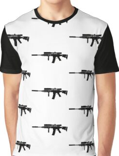 Black guns Graphic T-Shirt