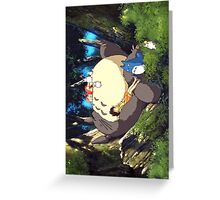 Totoro sleeping Greeting Card