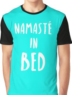 "Funny Yoga T-Shirt ""Namaste In Bed"" Graphic T-Shirt"