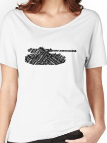 Military Tank Commander Army Phonetic Alphabet Design Women's Relaxed Fit T-Shirt