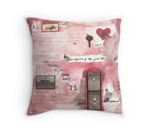 The House Blew Away Throw Pillow