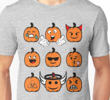 Cute Funny Thanksgiving Pumpkin Halloween Emojis T Shirt Holiday Poop Smiley Face Unisex T-Shirt