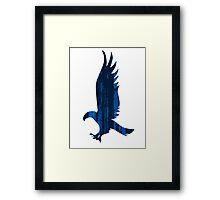 Eagle blue forest Framed Print