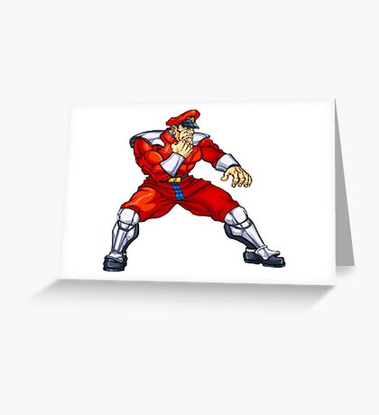 M. Bison Street Fighter Greeting Card