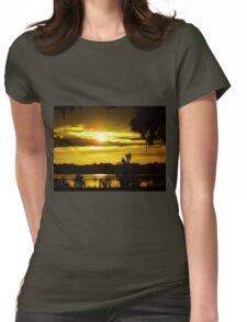 Sunrise At The Lake Womens Fitted T-Shirt