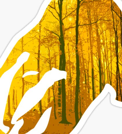 Badger yellow forest Sticker