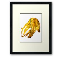 Badger yellow forest Framed Print