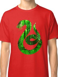 Snake green forest Classic T-Shirt
