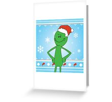 Merry Mr Meeseeks Greeting Card