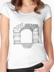 Gateway to a secret world - White Women's Fitted Scoop T-Shirt