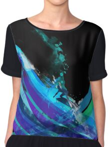 graphic wave Women's Chiffon Top