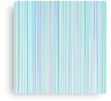 Blue Line Pattern on White Background Canvas Print