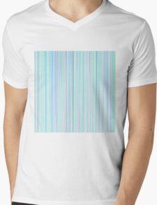 Blue Line Pattern on White Background Mens V-Neck T-Shirt
