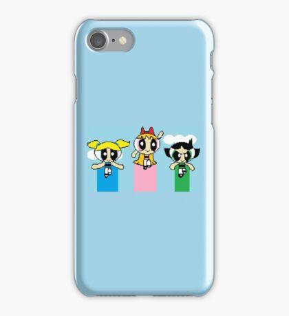 8-Bit Powerpuff Girls iPhone Case/Skin