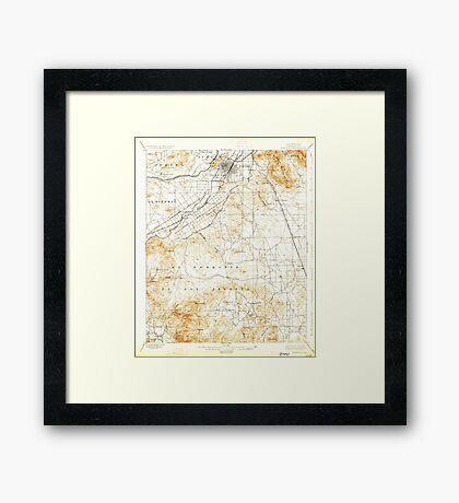 USGS TOPO Map California CA Riverside 298781 1901 62500 geo Framed Print