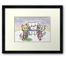 Snowcat and Kittens Framed Print
