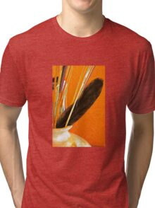 Pottery, Sticks and Feather Tri-blend T-Shirt