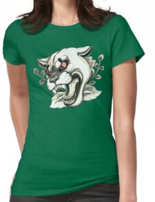 Cougar Tattoo Flash Womens Fitted T-Shirt