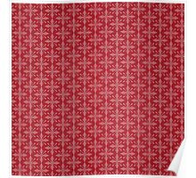 Christmas – Red Snowflakes Poster