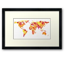 Watercolour map of the world   Globetrotter Framed Print