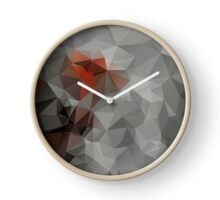 Abstract bright background of triangles polygon print illustration Clock