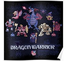 Warrior Dragon Poster
