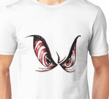 Evil, Psycho, Angry Cartoon Rough Sketch Eyes Horror  Unisex T-Shirt