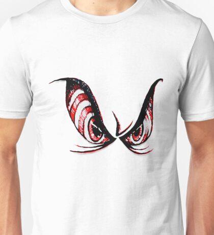 Evil, Psycho, Angry Cartoon Rough Sketch Eyes Horror  Unisex T-Shirt