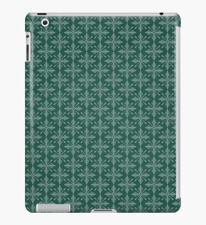 Christmas – Green Snowflakes iPad Case/Skin