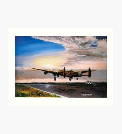 Lancaster evening takeoff  Art Print