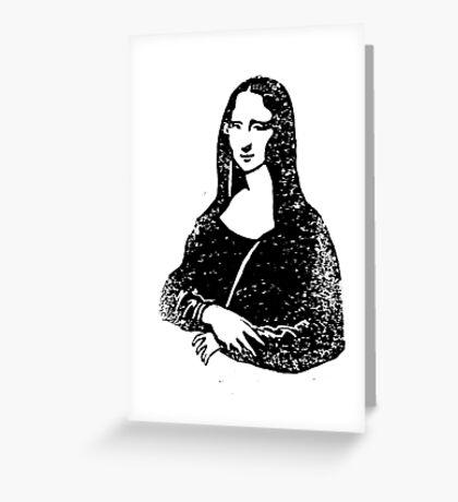 Mona Lisa Lino Greeting Card