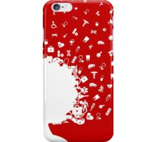 Medical girl head iPhone Case/Skin