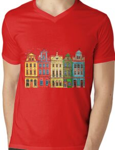Rainbow's houses  Mens V-Neck T-Shirt