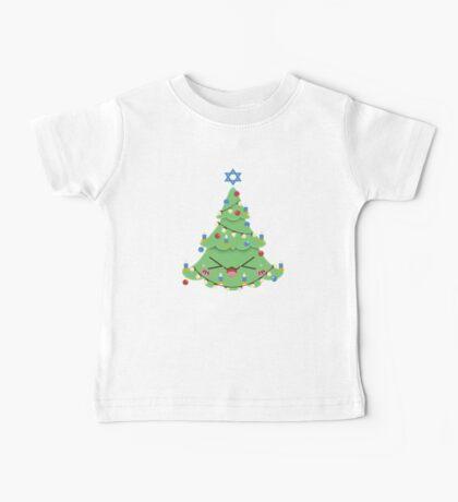 Christmukkah Tree Baby Tee