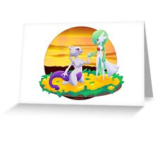 GardevoirxMewtwo Greeting Card