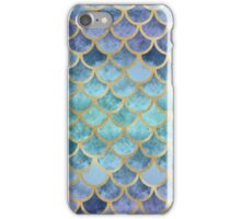 Blue Mermaid Fish Scales iPhone Case/Skin
