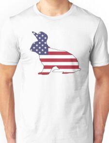 American Flag – Rabbit Unisex T-Shirt