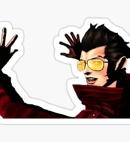 "No More Heroes - Travis Touchdown ""Moe"" Sticker Sticker"