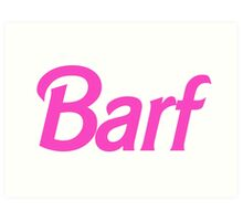 Hot Pink Barf Art Print