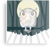 Owl is Calm Metal Print