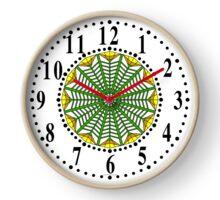 Harmonious Two Tone Yellow Flowers Clock