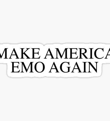 make america emo again Sticker