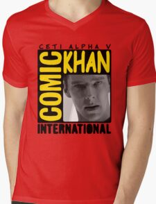 COMIC KHAN  Mens V-Neck T-Shirt